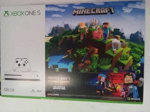 Consola Xbox One S 500gb Caja 2 Juegos Minecraft Envio Grati