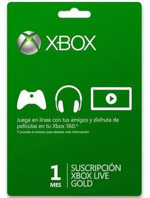Xbox Live Gold 1 Meses Código