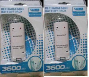2 Pack Bateria Recargable Controles Wii mah Enviogratis