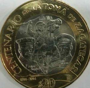20 Pesos Centenario De La Toma De Zacatecas Envió Gratis