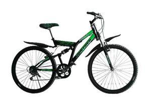 Bicicleta Montaña Africa Rod 26 Doble Susp 18 Vel Led