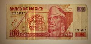Billete De 100 Pesos Circulado