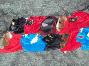 Lote De 10 Mascaras De Super Heroes P/niño Capitan Ironman