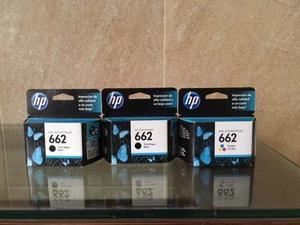 Pack De 3 Tintas Hp 662 Original 2 Negro+ 1 Color Vence