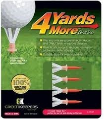 Charter 4 Yards More Tees Golf 1 3/4 Color Rojo