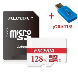 Micro Sd 128 Gb Con Adaptador Usb Y Sd Clase 10