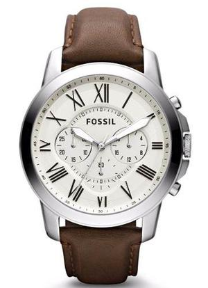Fossil Grant Chronograph Leather Fs