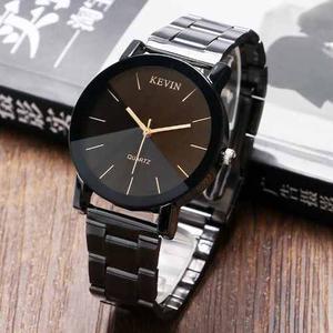 Reloj Acero Negro Marca Kevin Hombre Moda Caballero Elegante