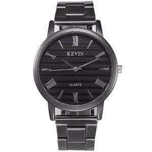 Reloj Acero Negro Marca Kevin Hombre Moda Caballero Jaspeado