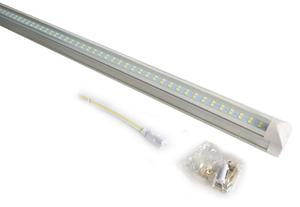 10 Lampara Doble Led Techo Tubo 20w T8 Plastico Accesorio/e