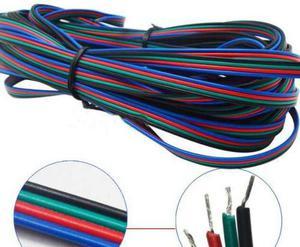 Cable De 4 Hilos Para Tira Led Rgb Multicolor  Y