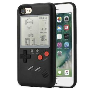 Funda Game Boy Pocket Tetris Negra Iphone 6/6s Plus /7/7plu