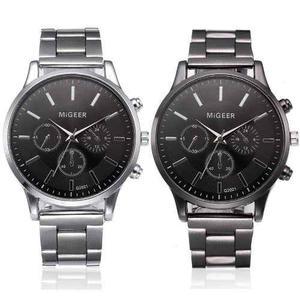 Reloj Migeer Black Metalico Negro Moda Original Hombre