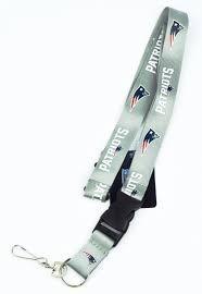 Nfl New England Patriots,portagafete Gris Envío Gratis