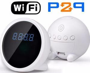 Reloj Despertador Camara Espia Wifi P2p Android Iphone Te136