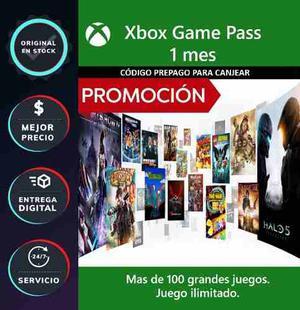 Xbox Game Pass 1 Mes - Xbox One - Código