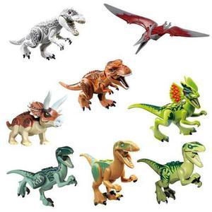 Excelente Set 8 Dinosaurios Armables Compatibles Bloques