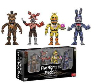 Set 4 Figuras Five Nights At Freddys Nightmare Edition Fnaf