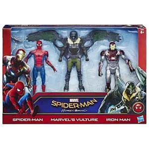 Set De 3 Figuras Spiderman Homecoming Iron Man Envio Gratis