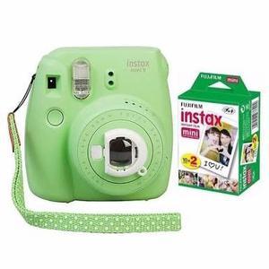 Cámara Fujifilm Instax Mini 9 Verde Lima Nueva +2 Rollos