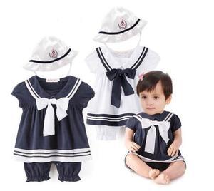 Traje De Marinero Para Bebe Niña Vestido Bebé Babynova M2