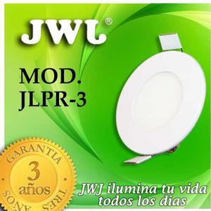 Jwj Plafon De Led 3w Empotrable  K° Luz Blanca Redondo