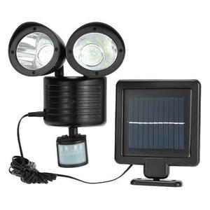 Lampara Led Solar Emergecia 2cabezas Sensor Movimiento