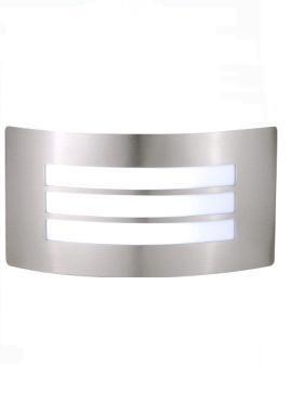Lámpara Led Pared Exterior Arbotant Acero Difusor Reja