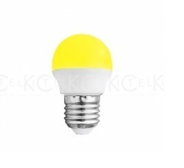 Mini Foco Led Tipo Bulbo Color Amarillo 1 W  Adir
