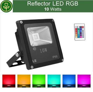 Reflector Led 10w Rgb Colores Ultra Delgado Ip65 Ahorrador