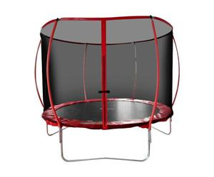 Trampolin 3 Mts Brincolin Infantil Con Red Tumbling Rojo