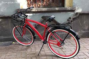 Bicicleta Vintage Hombre R26 6 Vel.|canastilla Tubular |faro