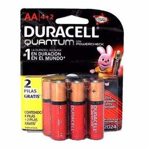 Pila Duracell Quantum Aa Con 6 Piezas 4+2
