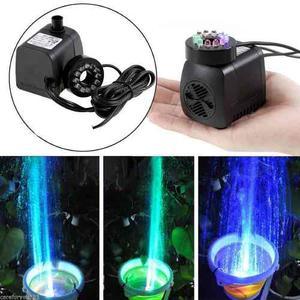 Bomba Agua Mini 600 Lts 1.2 Mts Fuente Con Luz Led Y Envio