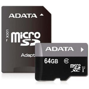 Memoria Microsd 64gb Adata Clase 10 Ausdx64guicl10-ra1