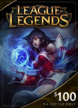 League Of Legends $100 Gift Card  Riot Points - Na Se
