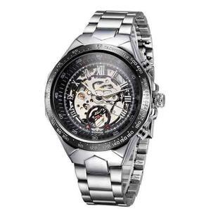 Reloj Skeleton Mecanico Automatico Big Dial N36f+pulsera