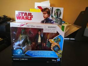 Boba Fett + Han Solo Star Wars Force Link Nuevo Envio Gratis