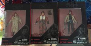 Hasbro Black Series Star Wars Han Solo, Finn Y Poe Dameron