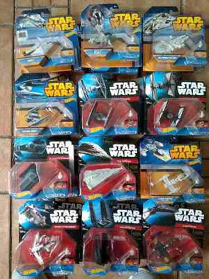 Hot Wheels Starwars Caja Con 12 Naves Diferentes Sin Abrir