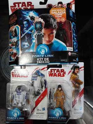 Star Wars Force Link Paquete 2 Kit De Inicio+set D 3 Figuras