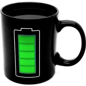 Taza Magica De Bateria Cambia Color Con Agua Caliente H
