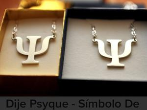 Cadena Plata Y Dije Simbolo Psicología Psique Plata Ley 925