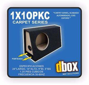 Cajon Dbox 1x10pkc Para Woofer 10 Pulgadas Porteado