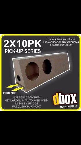 Cajon Dbox 2x10pk Para 2 Woofer 10 Pulgadas Porteado Pick Up