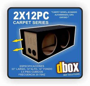 Cajon Dbox 2x12pc Para 2 Woofer 12 Pulgadas Porteado