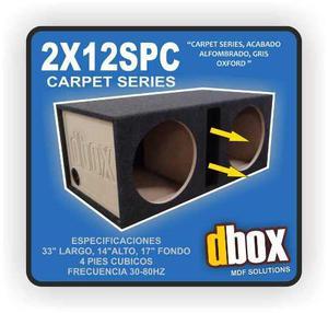 Cajon Dbox 2x12spc Para 2 Woofer 12 Pulg Porteado