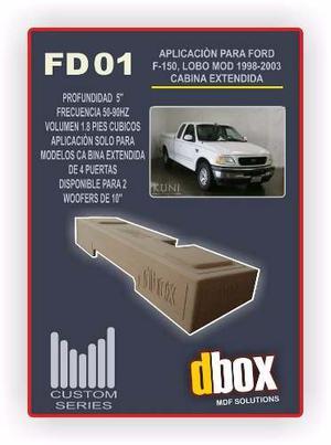 Cajon Dbox Fd01 Para 2 Woofer 10 Pulgadas Ford Lobo