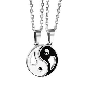 Collar De Pareja + Titanio + Envío Gratis Modelo Yin Yang