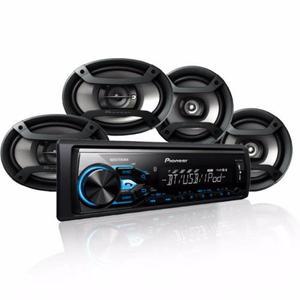 Estereo Carro Coche 4 Bocinas Pioneer Bluetooth Usb Nuevos